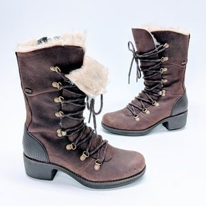 Merrell Lace Up Leather Polar Brunette Boots